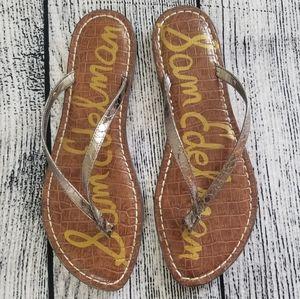 Sam Edelman Gracie Pewter Snake Skin Sandal